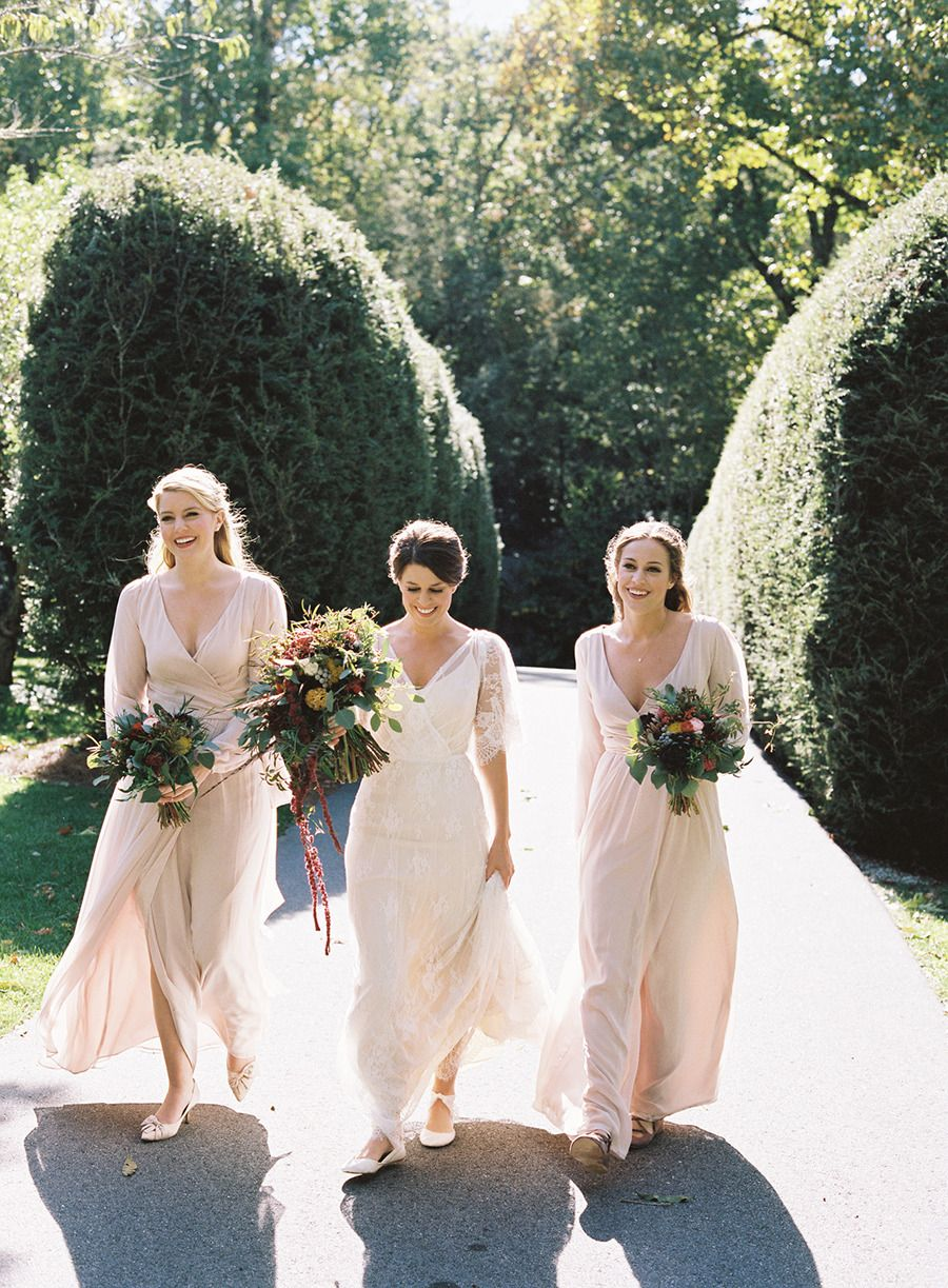 Rustic elegance at old edwards inn u spa pale pink maids and romantic
