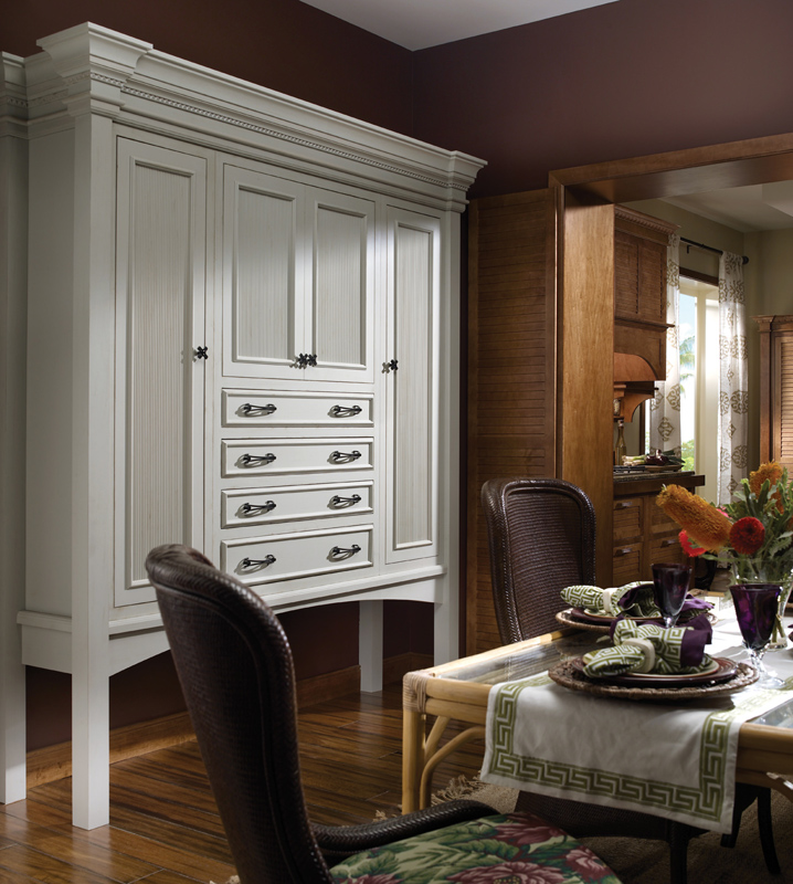 Other Home Furnitures Bangalore Furniture Manufacturers: Custom Medallion Cabinetry Hutch. Tahiti Door Style In