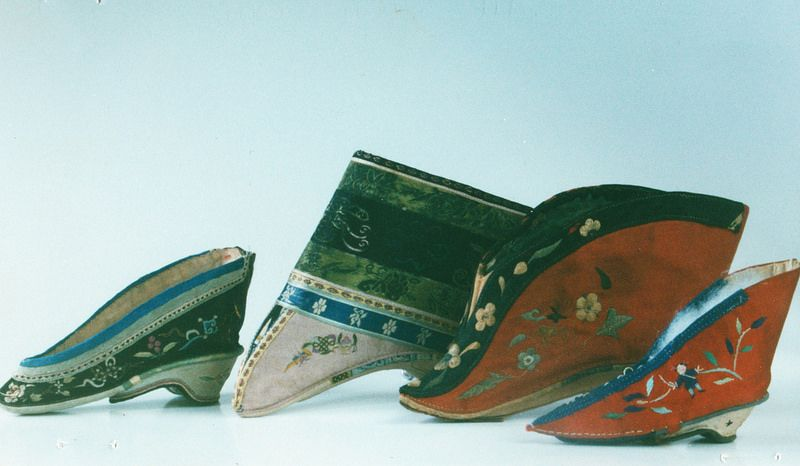 Antique Chinese womens shoes in the collection of Anthony J Sargeant