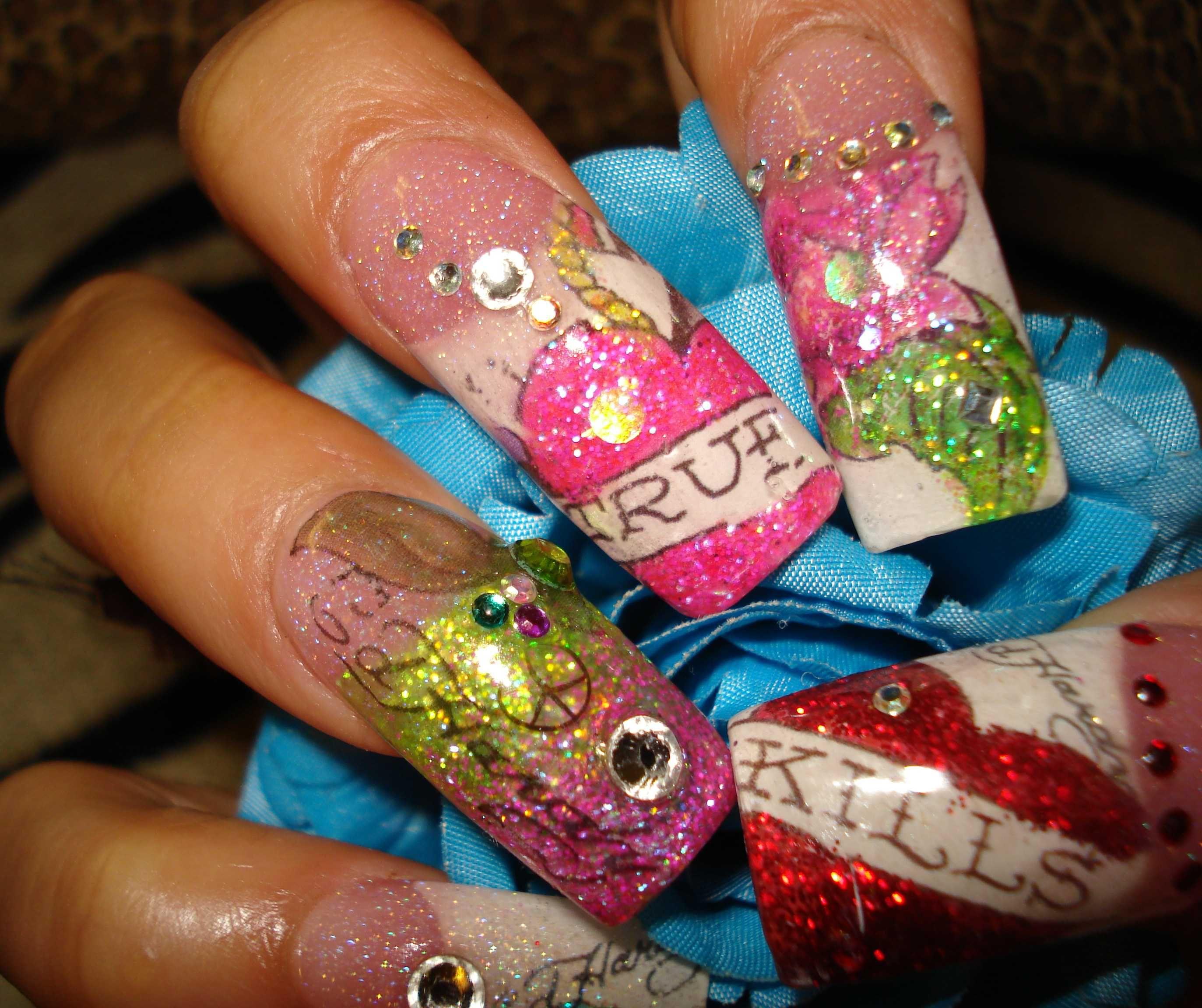 I Want These Now 54 Ed Hardy Tattoo Nail Art Nails