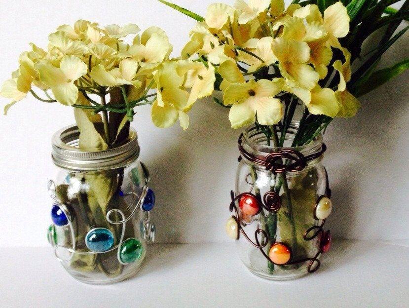 Mason Jar Vase Beaded, Mason Jar Candle Holder, Wedding Centerpiece - segmüller küchen prospekt