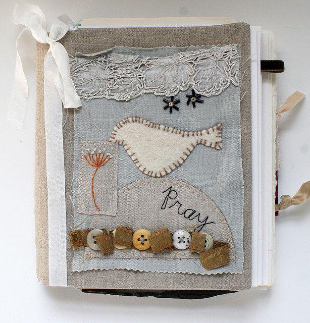 Art Quilt Journal (pray) by Rebecca Sower on Flickr