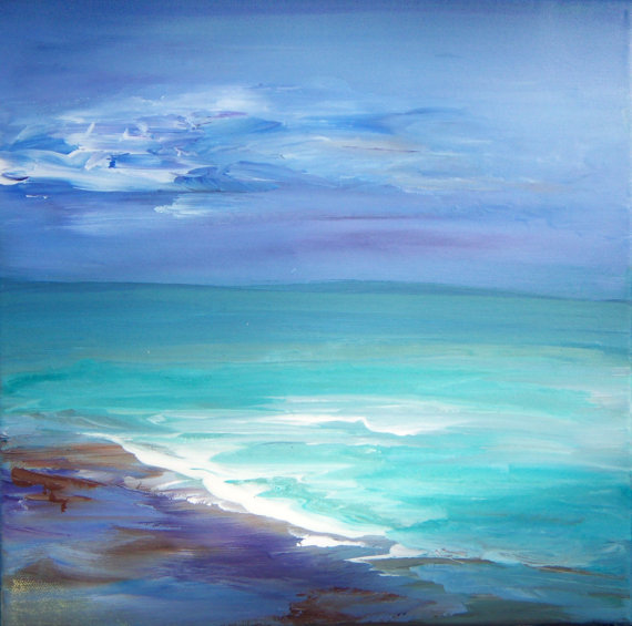 Original Acrylic Seascape Painting by Sheri 12x12 by sherischart, $50.00