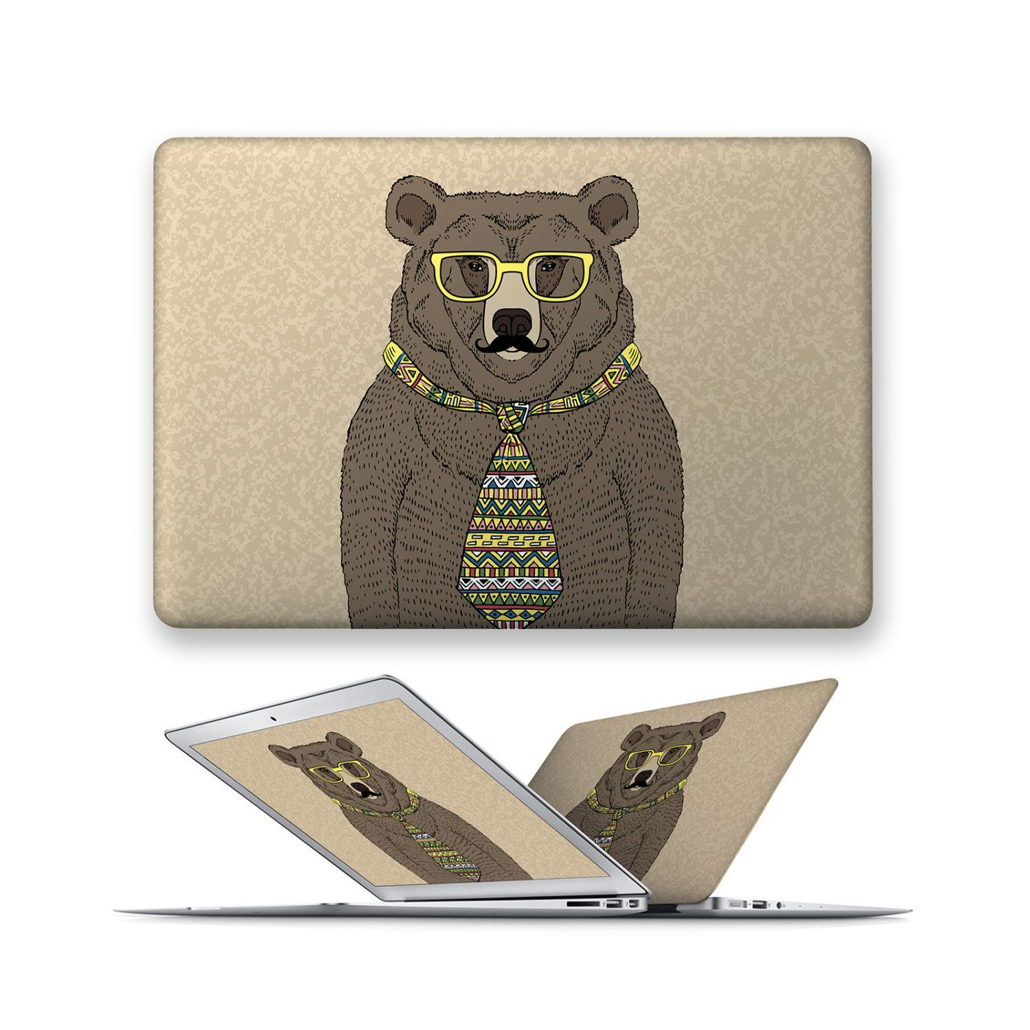 macbook decal rubberized front hard cover for apple mac