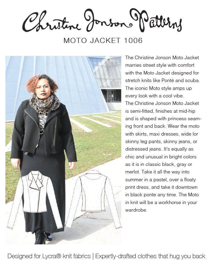 Christine Jonson 1006 Moto Jacket Downloadable Pattern Sewing