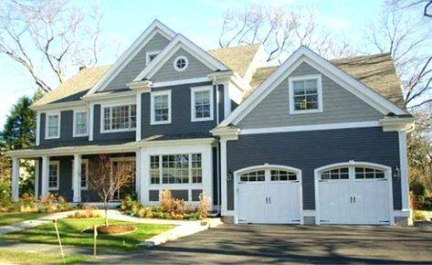 New Exterior House Colors Gray Two Tone 31+ Ideas #greyexteriorhousecolors