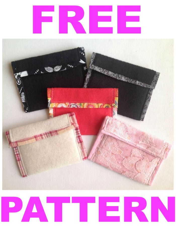The Pretty Pouchlet. FREE Cute Wallet Pouch Purse Pattern. Perfect ...