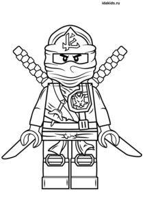 Раскраска Ниндзяго Лего Джей самый быстрый | Лего ...