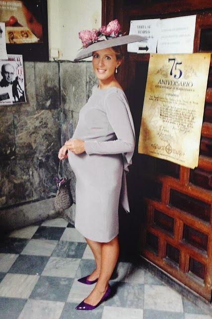 74daa520f Look para invitada de boda embarazada. Maravilloso estilismo