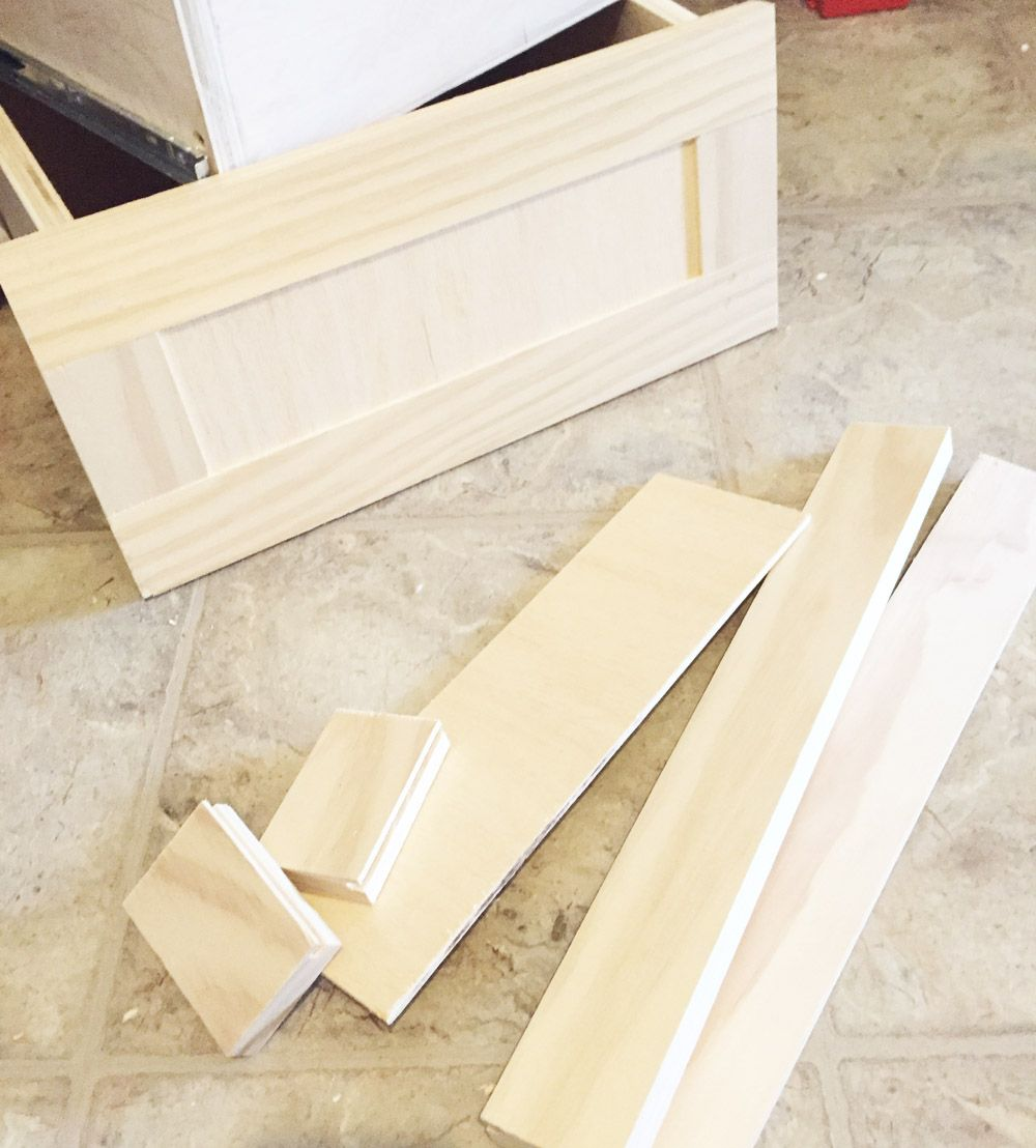How To Make Quick And Easy Shaker Style Drawer Fronts Diy Cabinet Doors Building Kitchen Cabinets Shaker Cabinet Doors