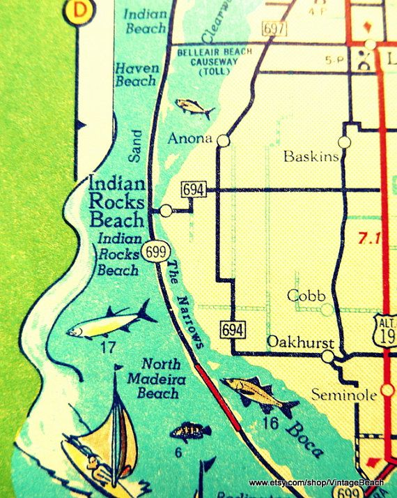 Map Indian Rocks Beach Florida Pin by Jeanine Brus on Indian rocks beach | Indian rocks beach