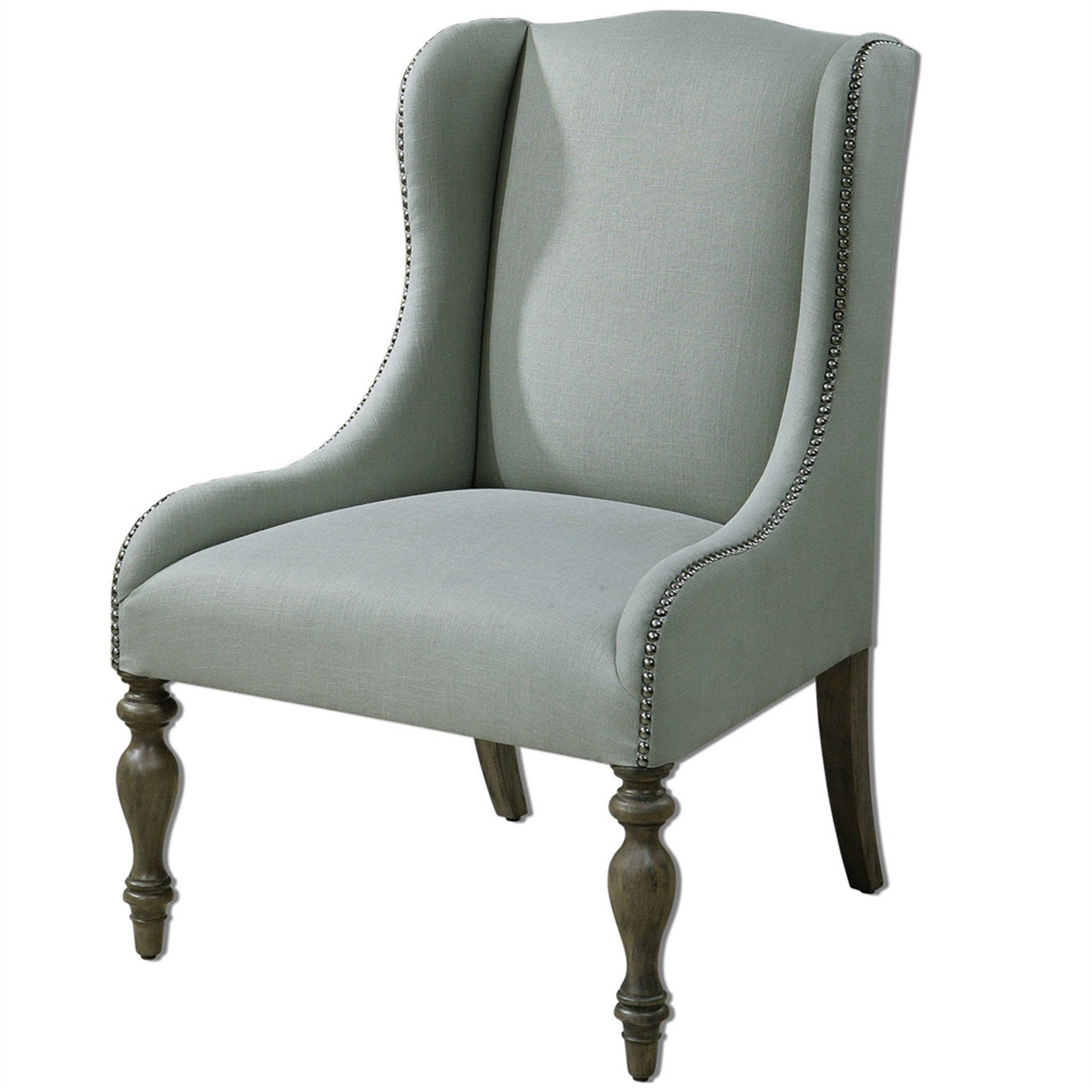 Uttermost Filon Wing Chair: Wingback Chair, Hudson Furniture, Wing