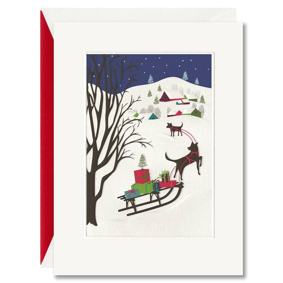 Holiday Cards, William Arthur, Dog and Sleigh www.hyegraph.com ...