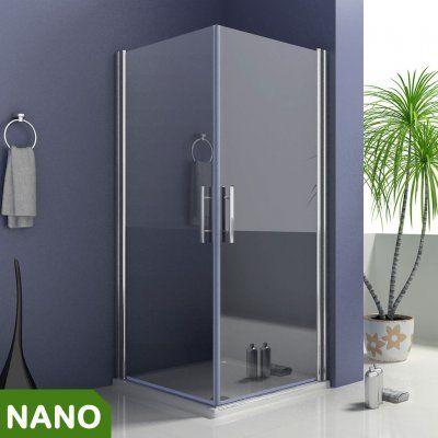 90x90X195cm Duschkabine Schwingtür Duschabtrennung NANO Glas - schiebetüren für badezimmer