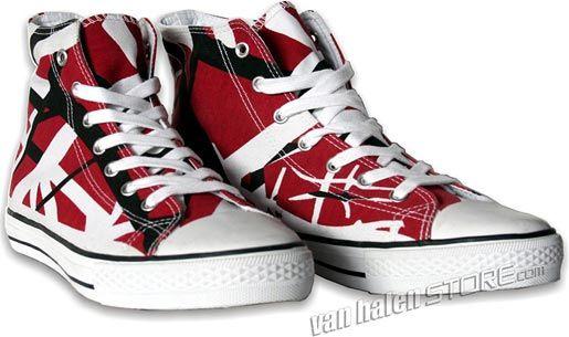 61bf45e580da9a EVH Shoes. EVH Shoes Red High Top ...