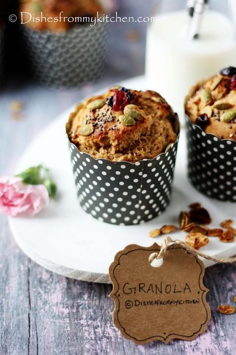 eggless butterless whole wheat granola muffin granola muffins indian dessert recipes on hebbar s kitchen cake recipes id=54077