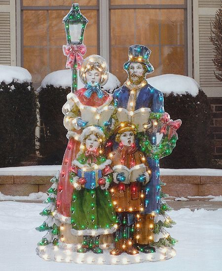 Vintage Wooden Christmas Carolers Set Of 3 Victorian: Christmas Caroler Outdoor Decorations