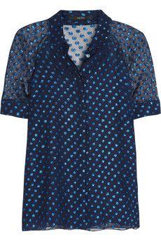 3eb19e10f3c01 Gucci Polka-dot silk-blend chiffon blouse
