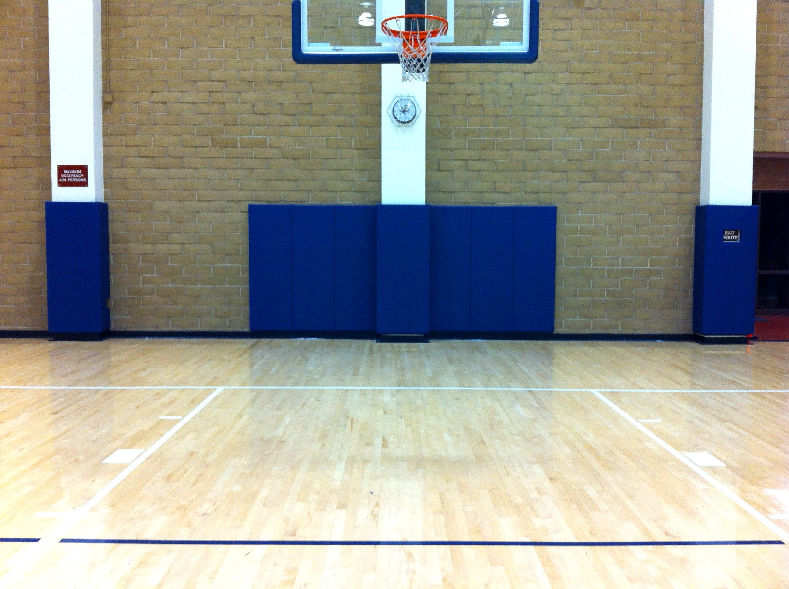 Wall Padding Basketball Court Volleyball Court Gymnasium Sportsvenuepadding Com Basketball Wall Beams Padded Wall
