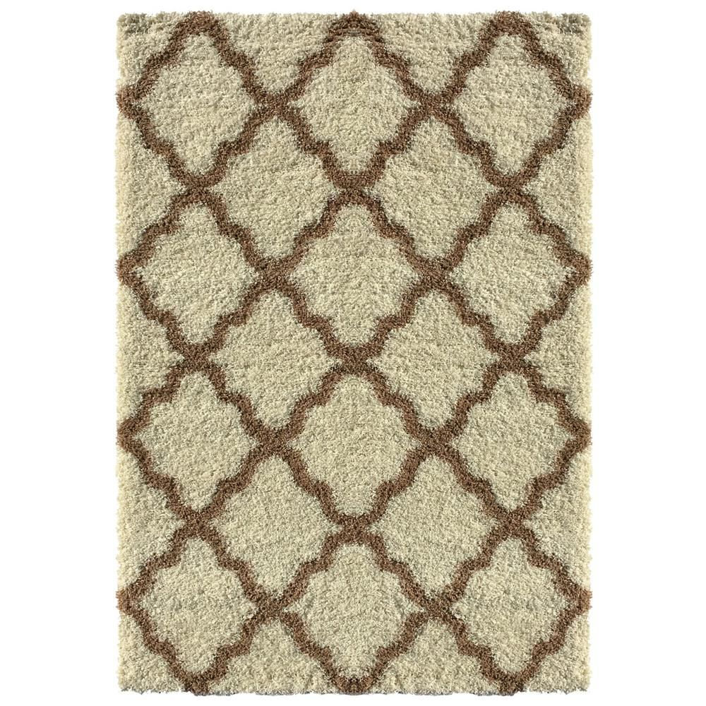 Maxy Home Bella Collection Ivory 5 Ft X 7 Ft Area Rug Area