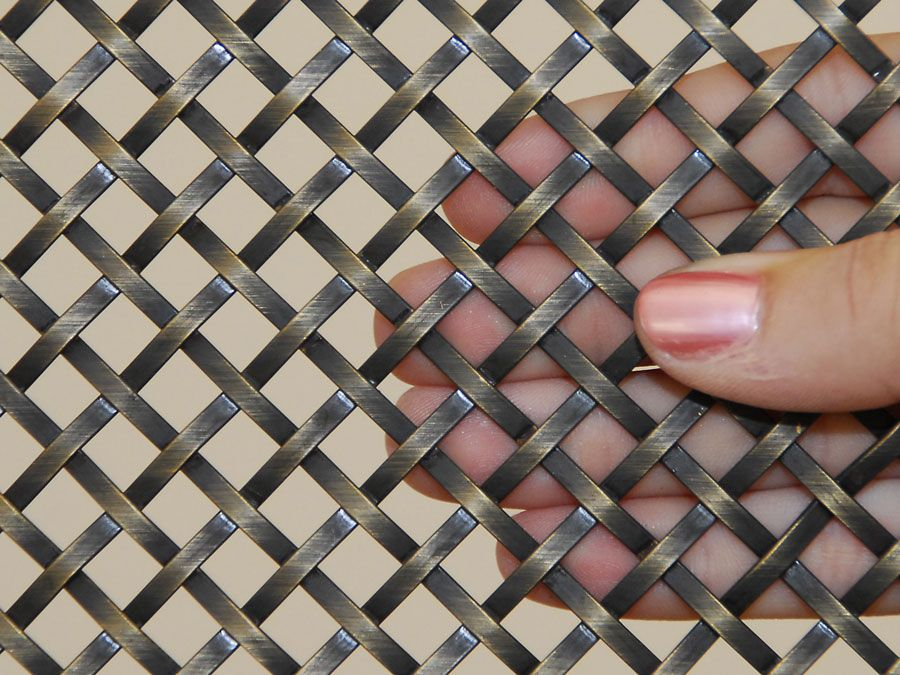 Decorative Metal Mesh Panels Flat Wire For Architectural Protective Indoor