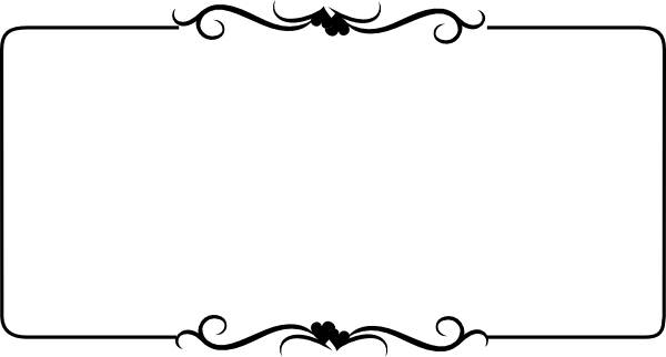 black and white Heart Border free Clip Art | black wedding ...