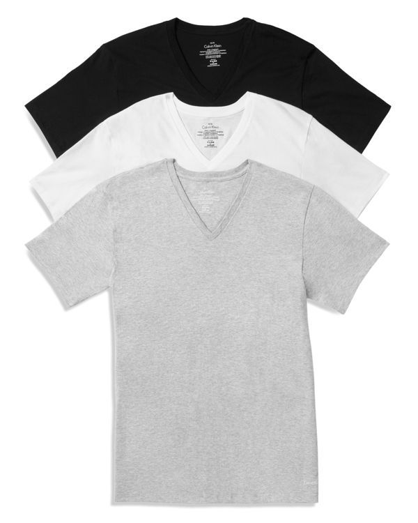 Calvin Klein Cotton Classics V-Neck Tees, Pack of 3
