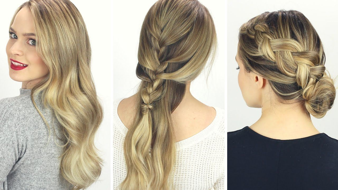 3 days of hairstyles! from clean to dirty | hair how to | pinterest