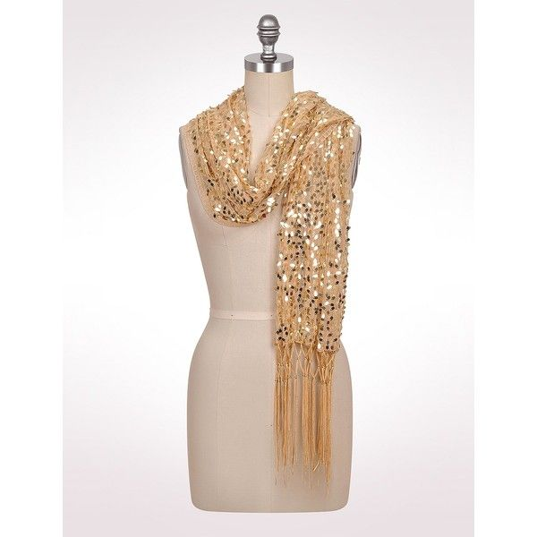 Sequined Shawl ($29) ❤ liked on Polyvore