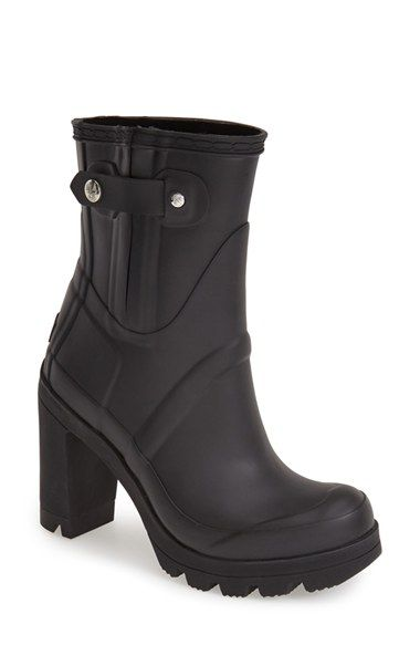 Hunter 'Original - High Heel' Rain Boot (Women) available at #Nordstrom