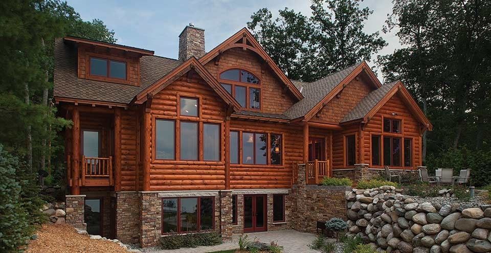 Log Style House Plan 5 Beds 4 5 Baths 5140 Sq Ft Plan 928 263 Log Cabin Floor Plans Log Cabin House Plans Cabin House Plans
