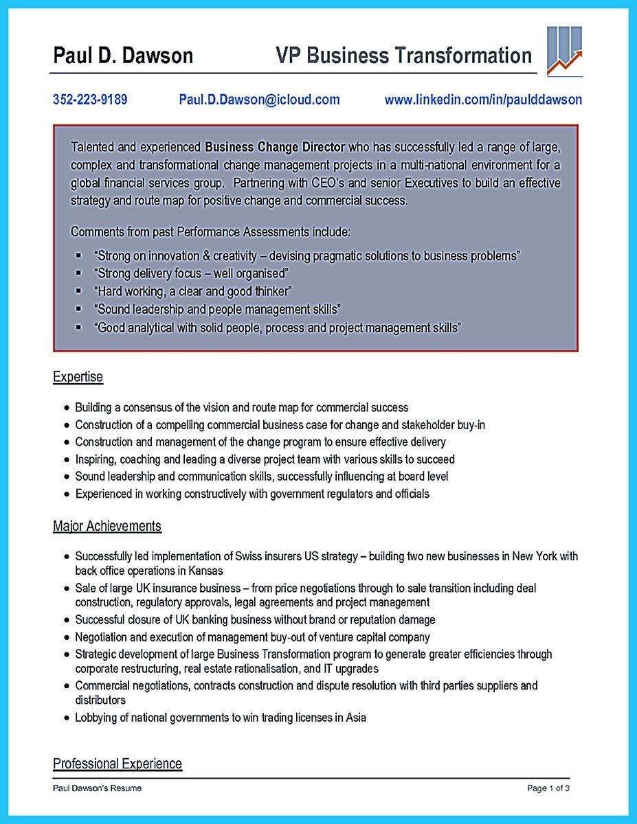 Cool Business Consultant Resume You Need to Get the Job