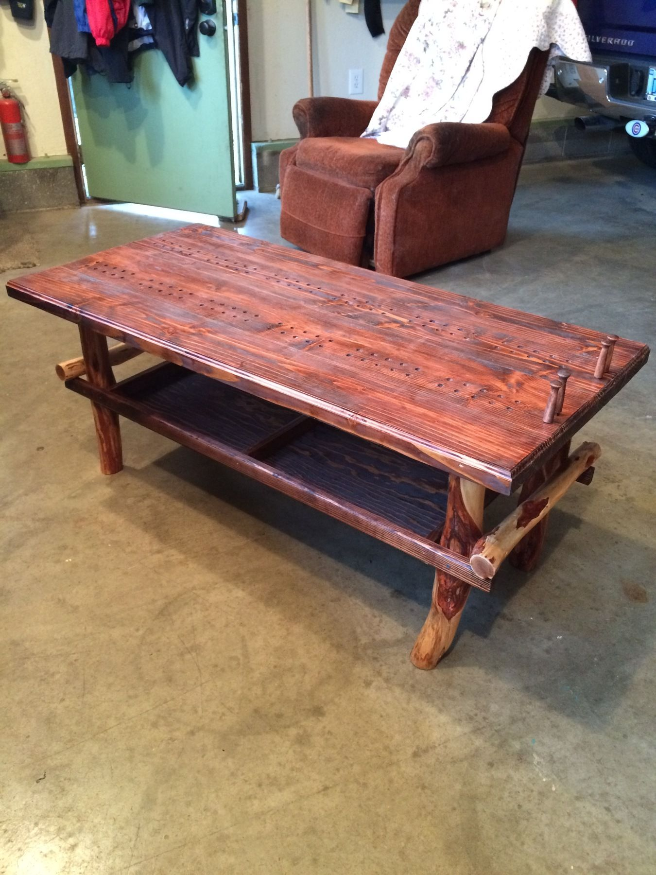 X Large Man Cave Cribbage Board Coffee Table I D Love To