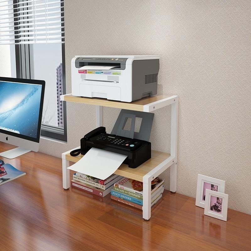 Creative Metal Wood Printer Minimalist Rack In 2020 Office Organization At Work Printer Stand Art Furniture Design