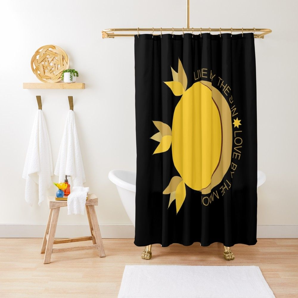 Love By The Moon Shower Curtain