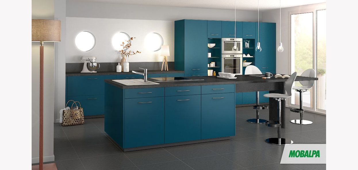 bleu canard cuisine bleu canard mobalpa et bleu canard. Black Bedroom Furniture Sets. Home Design Ideas