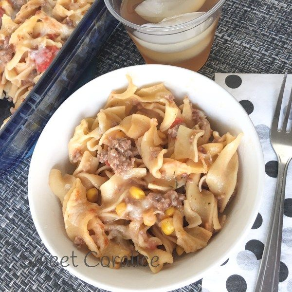 Creamy & Cheesy Beef Noodle Casserole images