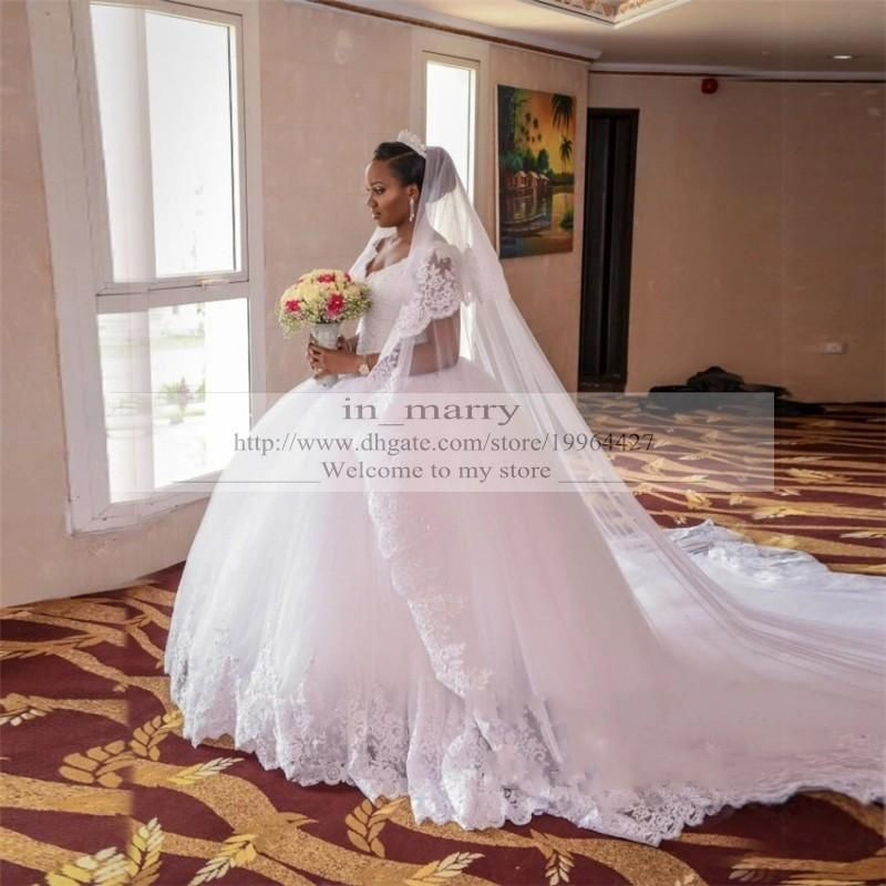 Puffy Chapel Train African Nigeria Wedding Dresses 2017 Ball Gown Sweetheart Vintage Lace Middle East Victorian Dubai Plus Size Bridal Gowns Jasmine Wedding Dre Vintage Ball Gown Wedding Dresses Bridal Gowns