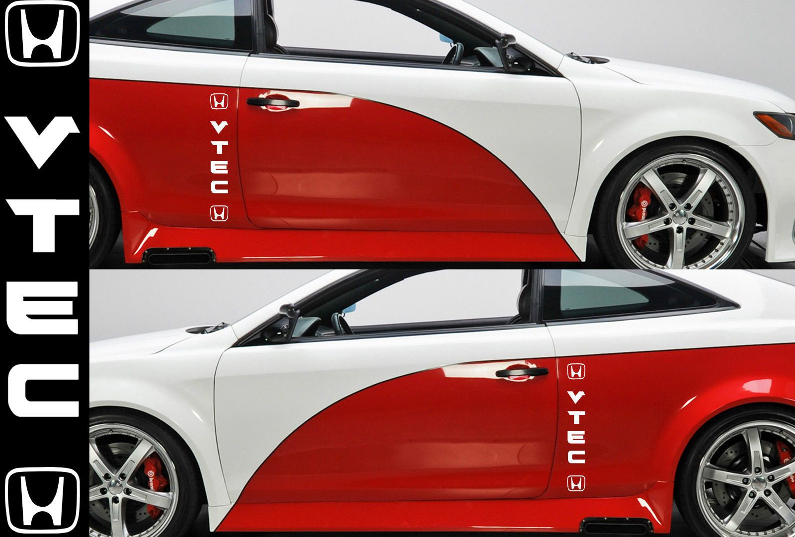 VTEC Decal Sticker Decal Graphics Racing Emblem Windshield - Honda civic decal stickers