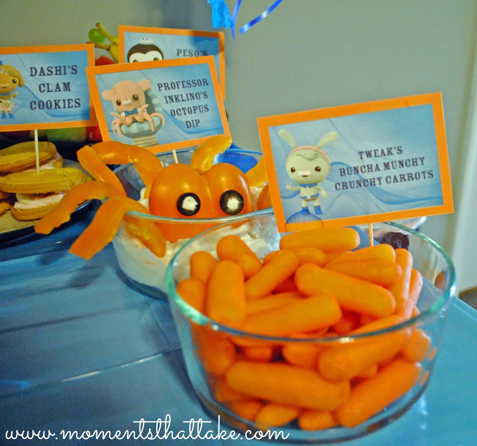 Octonauts Birthday Party Food Ideas Tweak S Buncha Munchy Crunchy Carrots