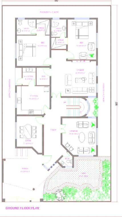 Pin By Aish Ch On Pakistan House Plans Small House Design Plans House Floor Plans Floor Plans