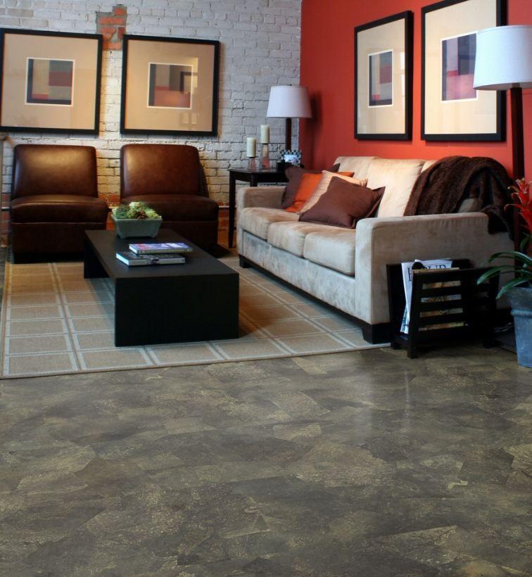Cork Flooring Almost Looks Like Stone Love It Dream House