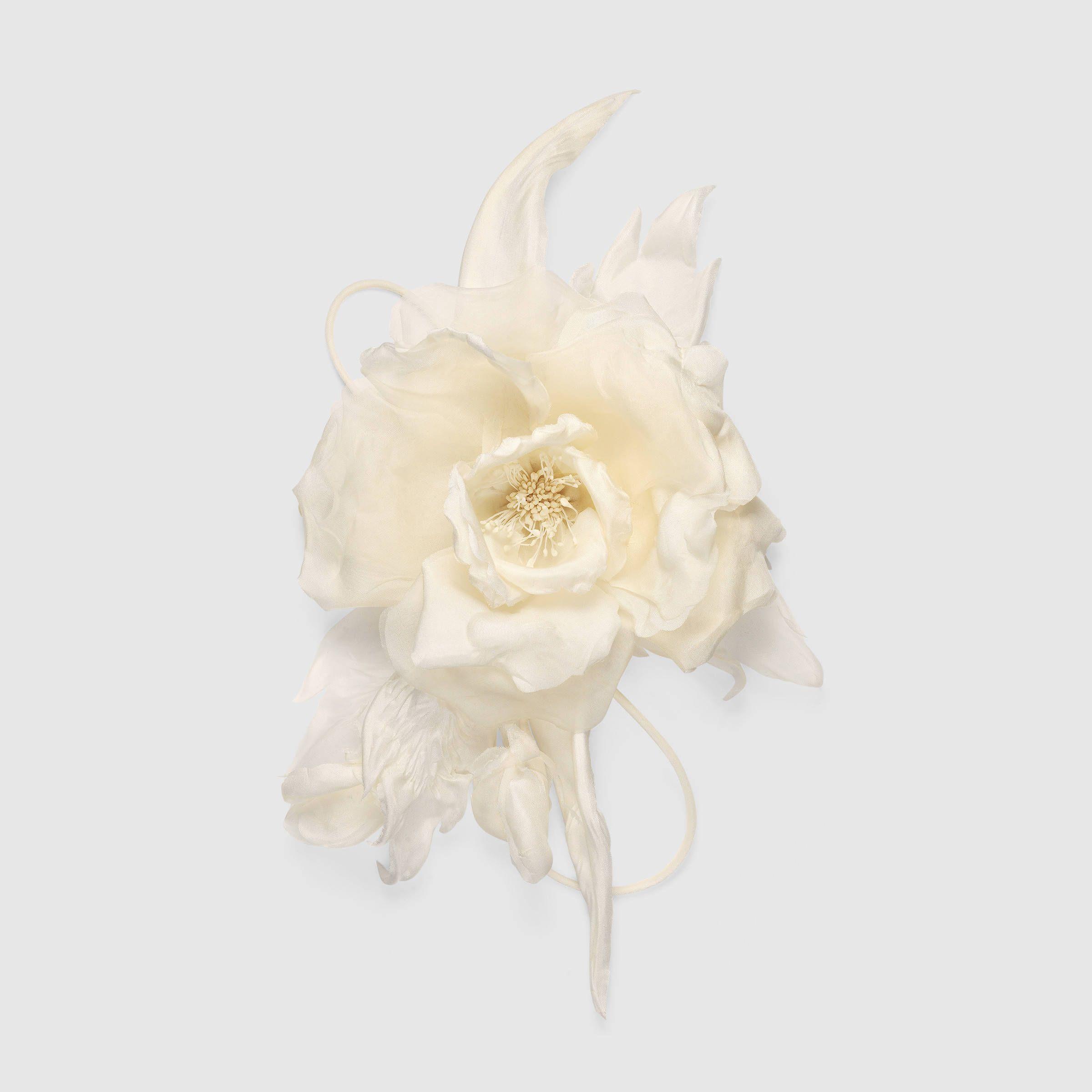 Flower Pin In Silk My Wish List Pinterest Gucci Jewelry