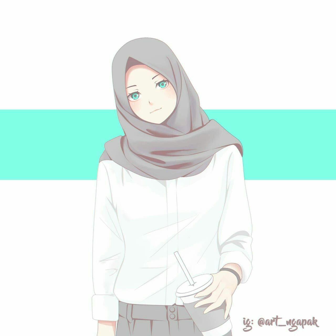Gambar Kartun Muslimah Kartun Ilustrasi Karakter Gambar Karakter