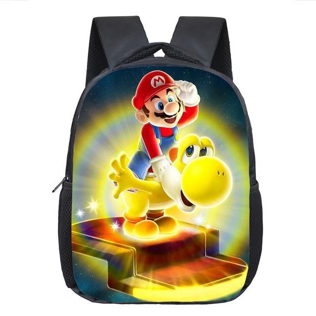 Cartoon Mario Sonic Backpack Children School Bags Baby Toddler