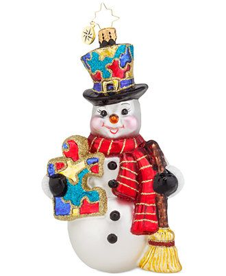 Christopher Radko Snow Frost Memories Ornament - Christmas Ornaments - For The Home - Macy's