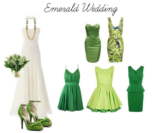 Mix and match emerald wedding