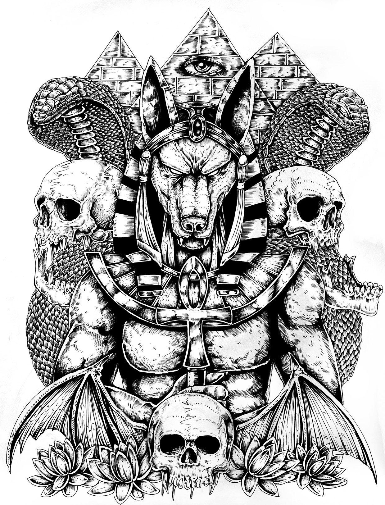 anubis and horus egyptian god tattoo wwwimgkidcom