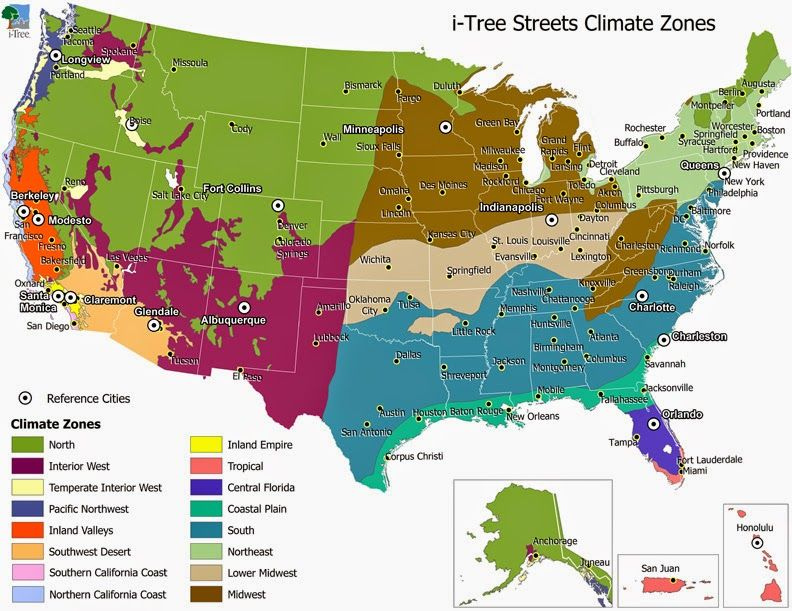 Detailed Climate Map Of United States Region Zones Murica - Us-temperate-climate-zone-map