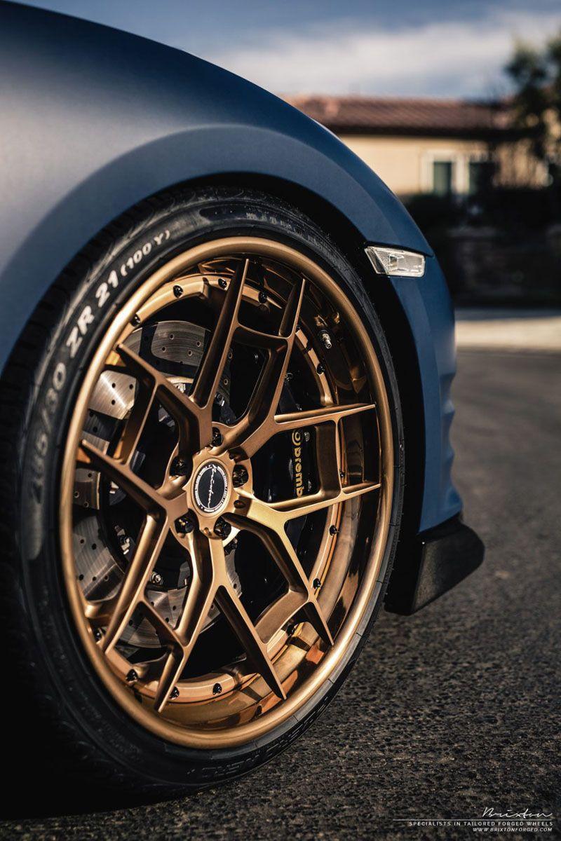 Motoringexposure Matte Blue Nissan Gt R With Brixton Forged Wr5 Rims Targa Series Wheels